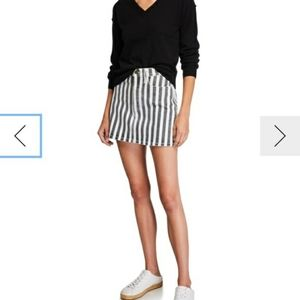 NWT FRAME   beatnick striped denim skirt